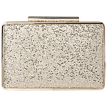 Buy L.K. Bennett Nina Box Clutch Bag, Platinum Glitter Online at johnlewis.com