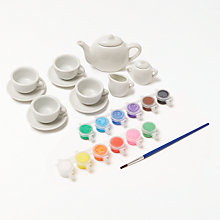 Buy John Lewis Paint Your Own Tea Pot Set Online at johnlewis.com