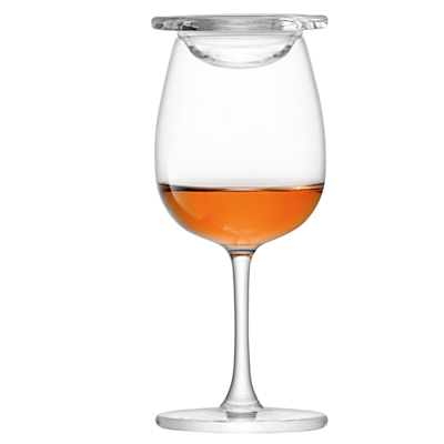 LSA International Whisky Stem Nosing Glasses with Glass Covers, Set of 2