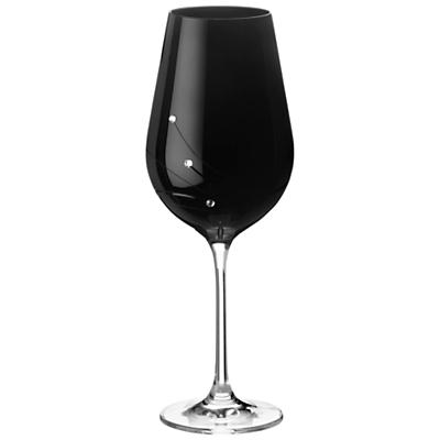 Dartington Crystal Glitz Noir Red Wine Glasses, Set of 2