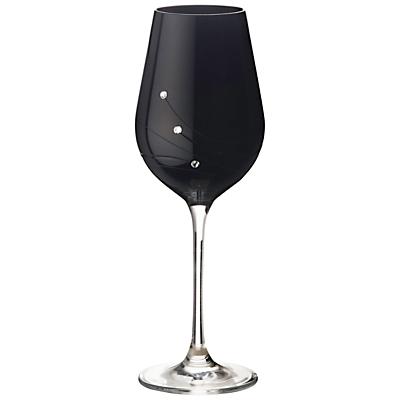 Dartington Crystal Glitz Noir White Wine Glasses, Set of 2
