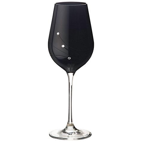 buy dartington crystal glitz noir white wine glasses set. Black Bedroom Furniture Sets. Home Design Ideas