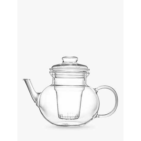 buy john lewis croft collection bramley teapot with filter clear 1l john lewis. Black Bedroom Furniture Sets. Home Design Ideas