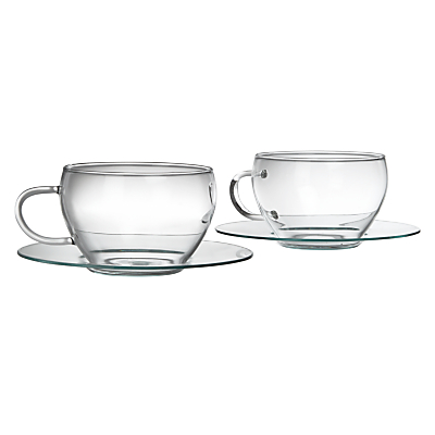 John Lewis Croft Collection Bramley Cup and Saucer, Set of 2