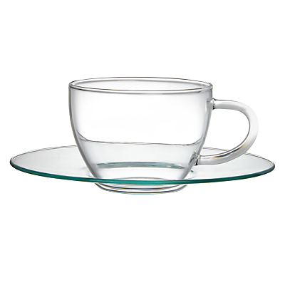 John Lewis Croft Collection Bramley Glass Espresso and Saucer, Set of 2