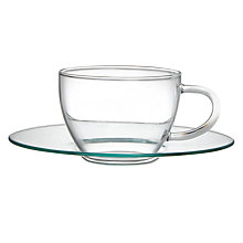 Buy John Lewis Croft Collection Bramley Glass Espresso and Saucer, Set of 2 Online at johnlewis.com