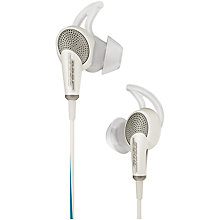 Buy Bose® QuietComfort® Noise Cancelling® QC20i Acoustic In-Ear Headphones for iPad, iPhone and iPod Online at johnlewis.com