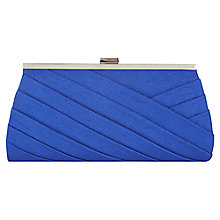 Buy Jacques Vert Pleated Detail Bag, Mid Blue Online at johnlewis.com