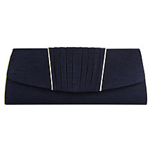 Buy Jacques Vert Pleat Detail Bag, Navy Online at johnlewis.com