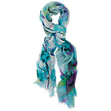 Buy Chesca Abstract Floral Scarf, Turquoise Blue Online at johnlewis.com