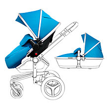 Buy Silver Cross Chrome Surf Set with Free Simplicity Car Seat, Blue Online at johnlewis.com