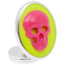 Buy Thomas Pink Skull Cameo Cufflinks Online at johnlewis.com