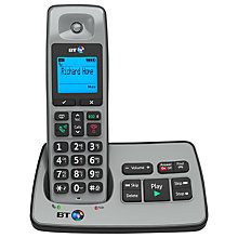 Buy BT 2500 Digital Cordless Phone with Answering Machine, Single Online at johnlewis.com