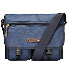 Buy BOSS Orange Rugged Messenger Bag, Navy Online at johnlewis.com