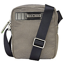 Buy BOSS Green Telaio Reporter Bag, Grey Online at johnlewis.com