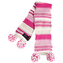 Buy Barbour Girls' Ella Stripe Knit Scarf, Pink Online at johnlewis.com