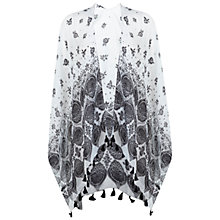 Buy Miss Selfridge Monochrome Flower Cape, Multi Online at johnlewis.com