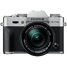"Buy Fujifilm X-T10 Compact System Camera with Fujinon XC 16-50mm f/3.5-5.6 OIS II Lens, HD 1080p, 16.3MP, Wi-Fi, 3"" Tilting LCD Screen Online at johnlewis.com"