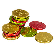 Buy Giant Bag Of Gold Foiled Milk Chocolate Coins, 375g Online at johnlewis.com