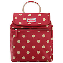 Buy Cath Kidston Button Spot Backpack, Berry Online at johnlewis.com
