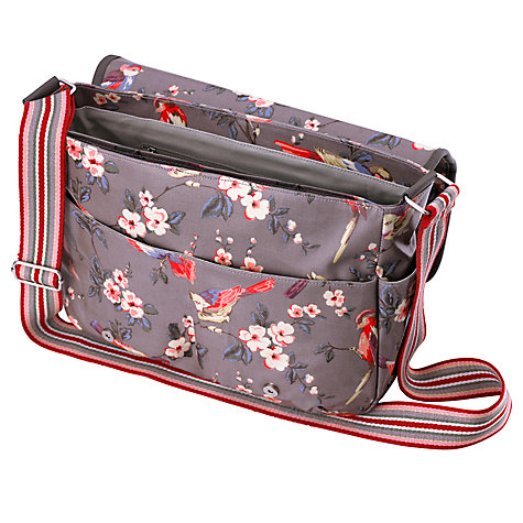 buy cath kidston british birds saddle bag grey john lewis. Black Bedroom Furniture Sets. Home Design Ideas