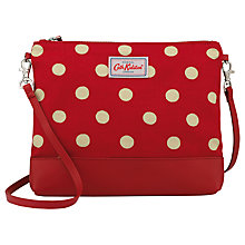Buy Cath Kidston Coated Cotton Button Spot Across Body Bag, Berry Online at johnlewis.com