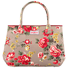 Buy Cath Kidston Embossed Winter Rose Tote Bag, Oat Online at johnlewis.com