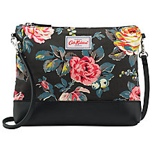 Buy Cath Kidston Coated Cotton Garden Rose Across Body Bag, Charcoal Online at johnlewis.com