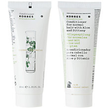 Buy Korres Aloe and Dittany Conditioner, 40ml Online at johnlewis.com