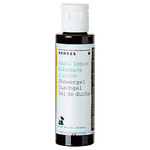 Buy Korres Basil Lemon Shower Gel, 40ml Online at johnlewis.com