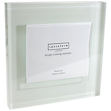 Buy Spaceform Block Colour Glass Photo Frame, White Online at johnlewis.com