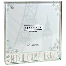 Buy Spaceform Square Wish Come True Photo Frame Online at johnlewis.com