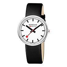 Buy Mondaine Unisex Mini Giant Leather Strap Watch Online at johnlewis.com
