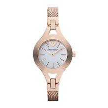 Buy Emporio Armani AR7329 Women's Chiara Bracelet Watch, Rose Gold Online at johnlewis.com