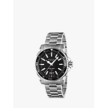 Buy Gucci YAa136301 Unisex Dive Stainless Steel Bracelet Watch, Black/Silver Online at johnlewis.com
