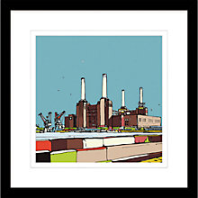 Buy Jamie B. Edwards - Urban Battersea Power Station Framed Limited Edition Giclee Print, 54 x 54cm Online at johnlewis.com