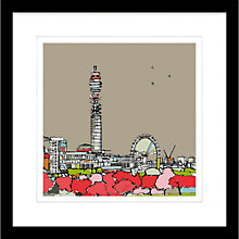 Buy Jamie B Edwards - Urban View from Primrose Hill Framed Print, 54 x 54cm Online at johnlewis.com