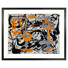 Buy Jackson Pollock - Yellow, Grey, Black 1948 Framed Silkscreen Print, 90 x 115cm Online at johnlewis.com