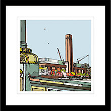 Buy Jamie B. Edwards - Urban Tate Modern Framed Limited Edition Giclee Print, 54 x 54cm Online at johnlewis.com