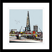 Buy Jamie B. Edwards - Urban Shard 2 Framed Limited Edition Giclee Print, 54 x 54cm Online at johnlewis.com