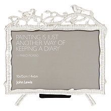 "Buy John Lewis Hawthorn Photo Frame, 4 x 6"", Silver Online at johnlewis.com"