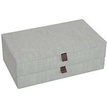 Buy John Lewis Croft Collection 2 Drawer Jewellery Box, Grey Online at johnlewis.com