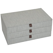 Buy John Lewis Croft Collection 3 Drawer Jewellery Box, Grey Online at johnlewis.com