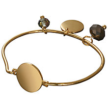 Buy Rebel by Waterford Coco Bangle, Gold Online at johnlewis.com