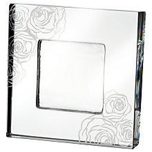 "Buy Monique Lhuillier for Waterford Sunday Rose Frame, 4 x 4"" (10.2 x 10.2cm) Online at johnlewis.com"