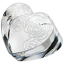 Buy Monique Lhuillier for Waterford Sunday Rose Heart Paperweight Online at johnlewis.com