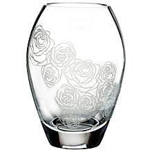 Buy Monique Lhuillier for Waterford Sunday Rose Posy Vase, H10.2cm Online at johnlewis.com