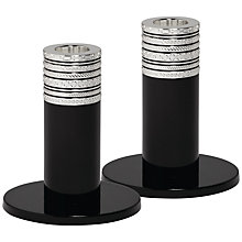 Buy Vera Wang Love Noir Candlestick, Set of 2 Online at johnlewis.com