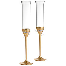 Buy Vera Wang for Wedgwood Love Knots Silver Plated Toasting Flute, Set of 2 Online at johnlewis.com