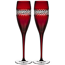 Buy Waterford John Rocha Red Flute, Set of 2 Online at johnlewis.com